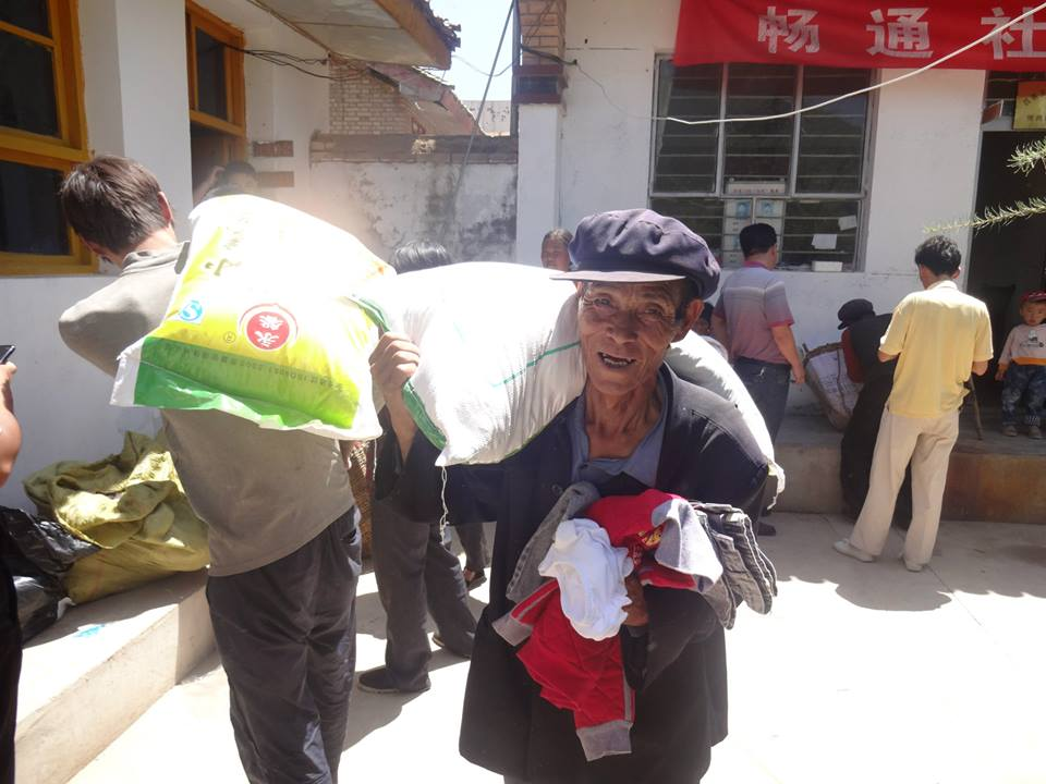 Flour and cooking oil collected by Earthquake victim
